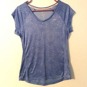 Womens NIKE dry fit running miler shirt Sz Medium